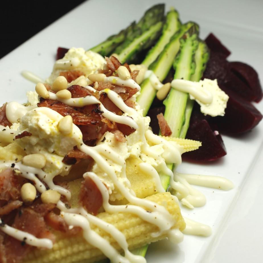 Asparagus Beetroot Bacon And Feta Salad Antipodean Food